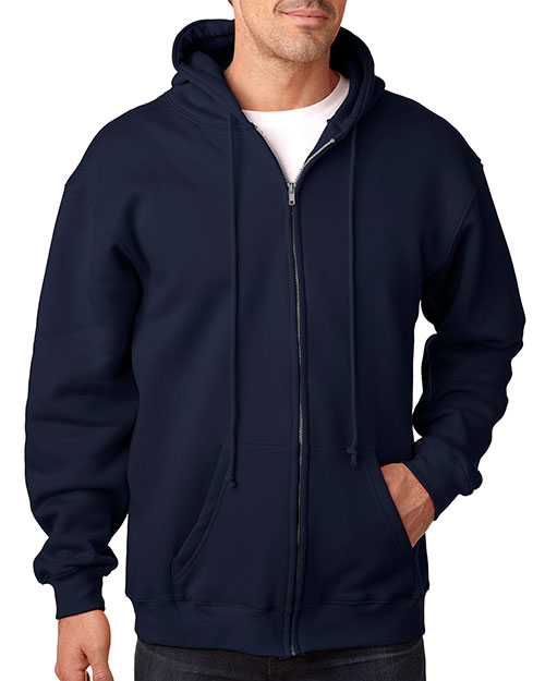 Bayside 900 Men Usa Made Full Zip Hood Navy at bigntallapparel