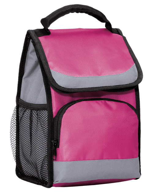 Port Authority BG116  Flap Lunch Cooler Passion Pink at bigntallapparel