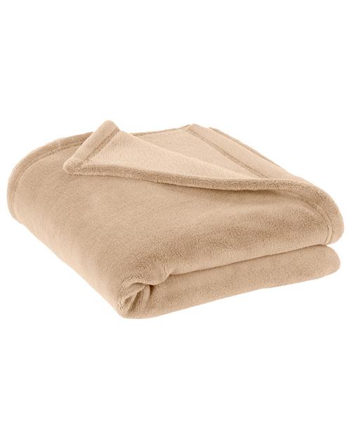 Port Authority BP30  Plush Blanket Beige at bigntallapparel