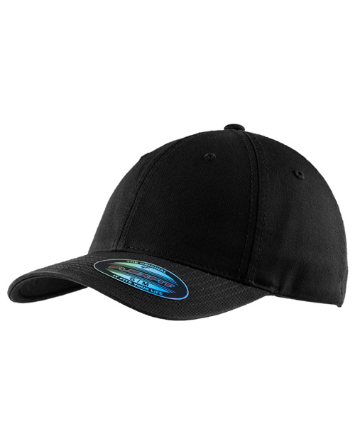 Port Authority C809  Flexfitgarment Washed Cap Black at bigntallapparel