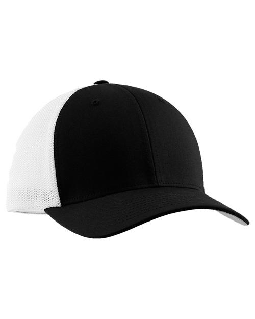 Port Authority C812  Flexfit   - Mesh Back Cap Black at bigntallapparel