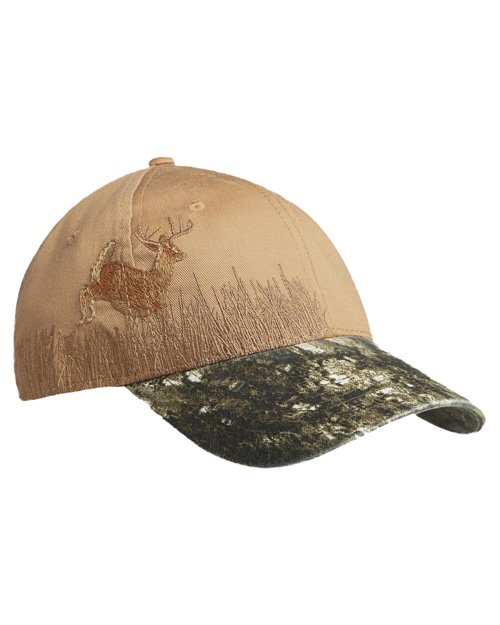 Port Authority C820  New  Embroidered Camouflage Cap Mo Nubkup/Deer at bigntallapparel