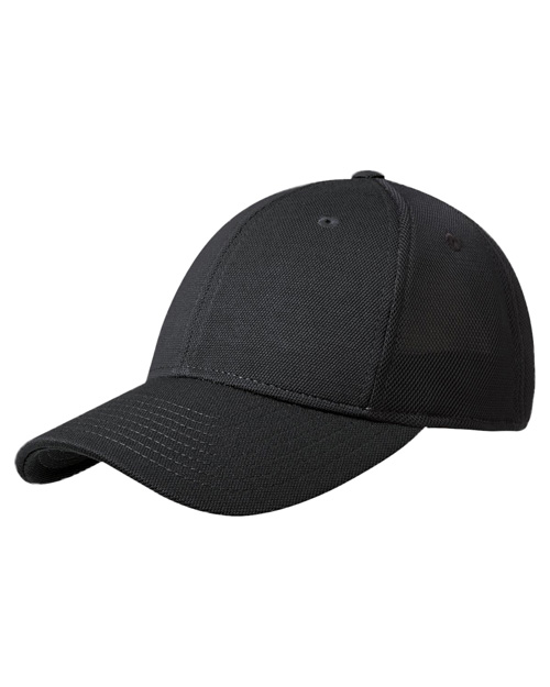 Port Authority C826  Pique Mesh Cap Black/Black at bigntallapparel