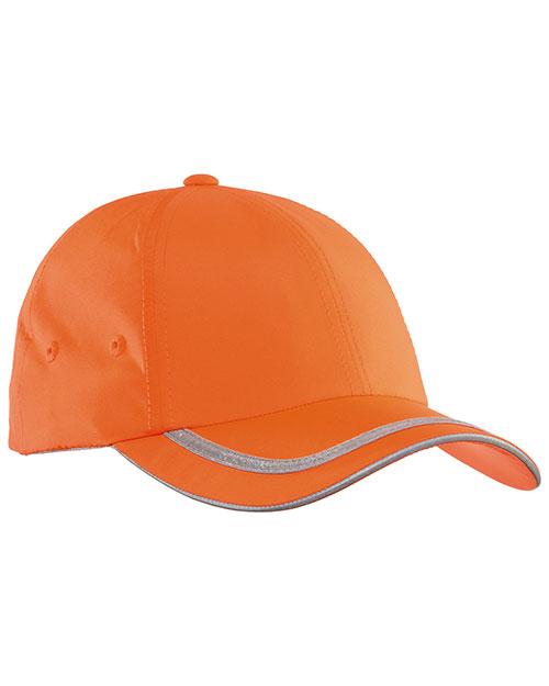 Port Authority C836   Safety Cap Safety  Orange/ Reflective at bigntallapparel