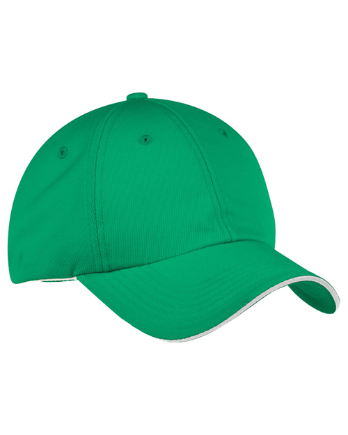 Port Authority Signature C838  Dry Zone Cap Kelly Green/White at bigntallapparel
