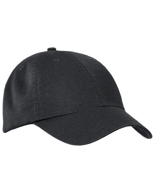 Port & Company CP78  Washed Twill Cap Black at bigntallapparel
