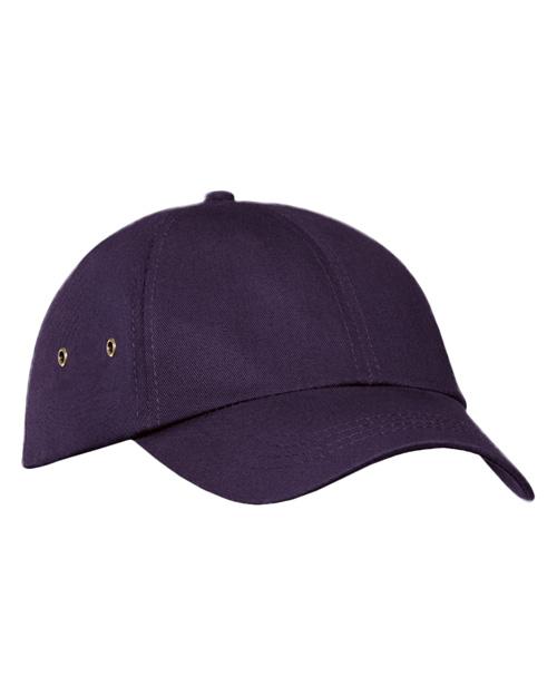 Port & Company CP81  Fashion Twill Cap With Metal Eyelets Eggplant at bigntallapparel