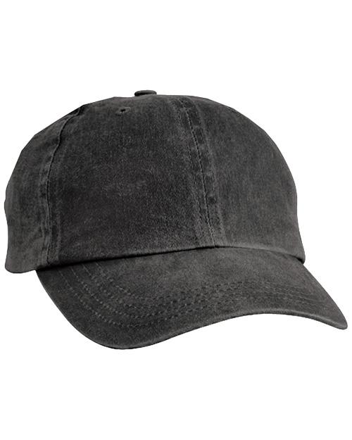 Port & Company CP84  Pigment Dyed Cap Black at bigntallapparel