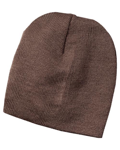 Port & Company CP94  Knit Skull Cap Brown at bigntallapparel