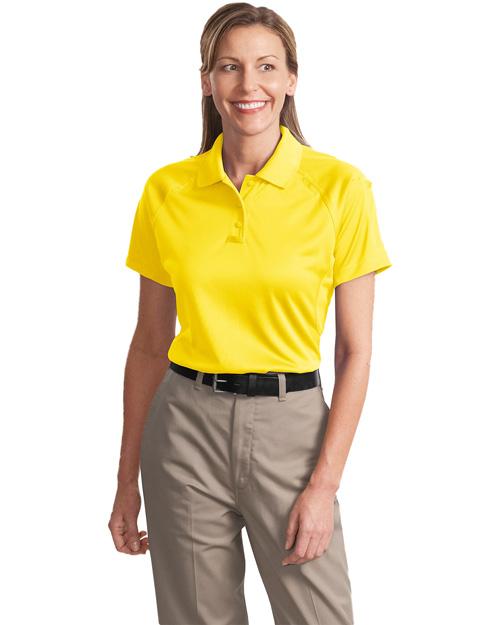 Cornerstone CS411 Women Select Snag-Proof Tactical Polo Yellow at bigntallapparel