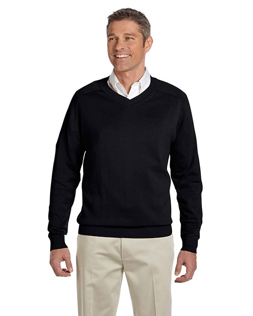 Devon & Jones D475 Men V Neck Sweater Black at bigntallapparel