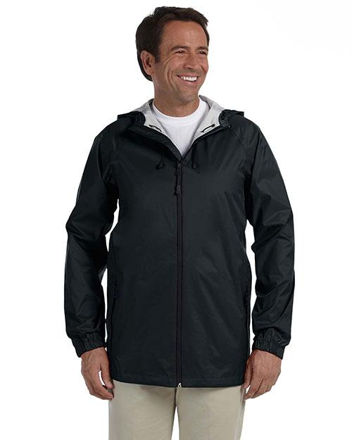 Devon & Jones D756 Men Waterproof Tech-Shell Torrent Jacket Black at bigntallapparel