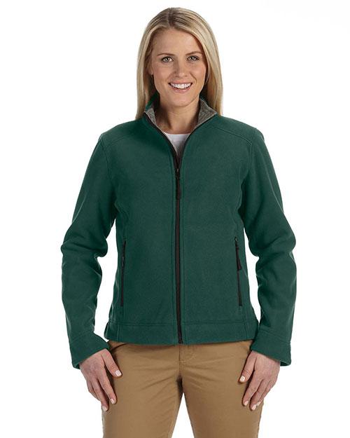 Devon & Jones D765W Women Advantage Soft Shell Jacket Dark Green at bigntallapparel