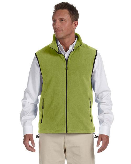Devon & Jones D770 Men Wintercept Fleece Vest Green Leaf at bigntallapparel