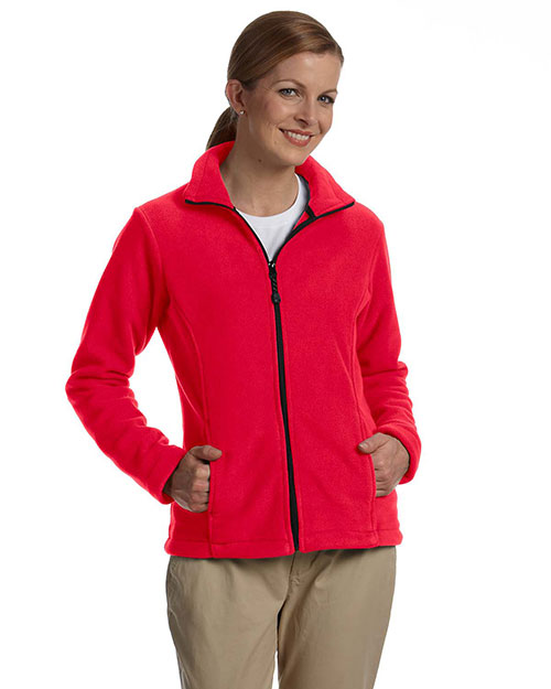 Devon & Jones D780W Women Wintercept Fleece Full-Zip Jacket Red at bigntallapparel