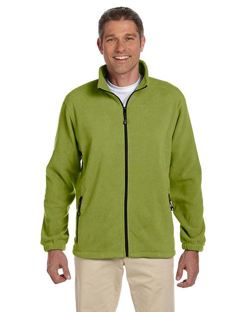 Devon & Jones D780 Men Wintercept Fleece Full Zip Jacket Green Leaf at bigntallapparel