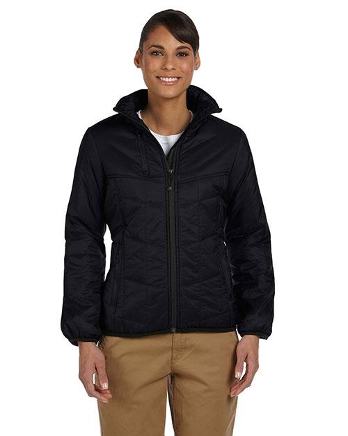 Devon & Jones D797W Women Insulated Tech-Shell Reliant Jacket Black at bigntallapparel