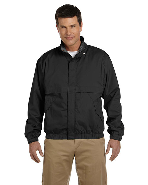Devon & Jones D850 Men Clubhouse Jacket Black/Black at bigntallapparel