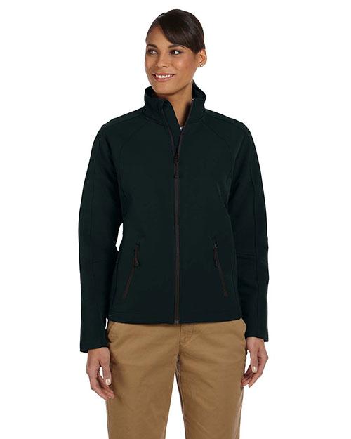 Devon & Jones D945W Women Bonded Tech-Shell Duplex Jacket Black at bigntallapparel