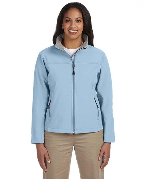 Devon & Jones D995W Women Soft Shell Jacket Light Blue at bigntallapparel