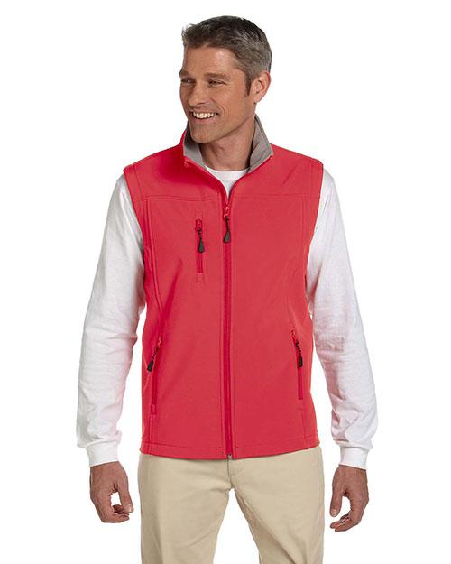 Devon & Jones D996 Men Soft Shell Vest Red at bigntallapparel