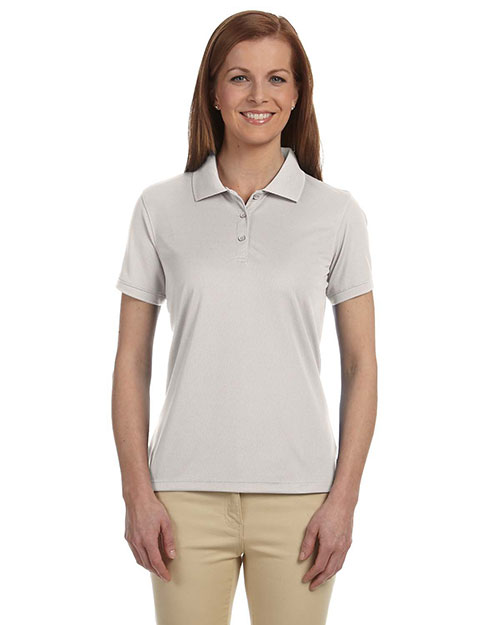 Devon & Jones DG385W Women Dri-Fast Advantage Solid Mesh Polo Putty at bigntallapparel