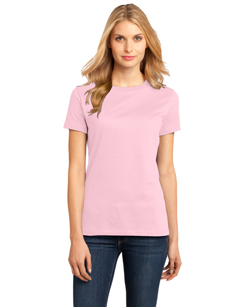 District Threads DM104L Women   Perfect Weight Crew Tee Light Pink at bigntallapparel
