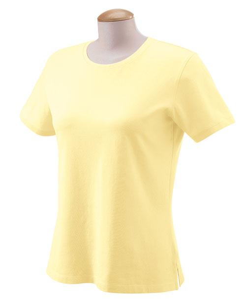 Devon & Jones DP155W Women Stretch Jersey T-Shirt Daffodil at bigntallapparel