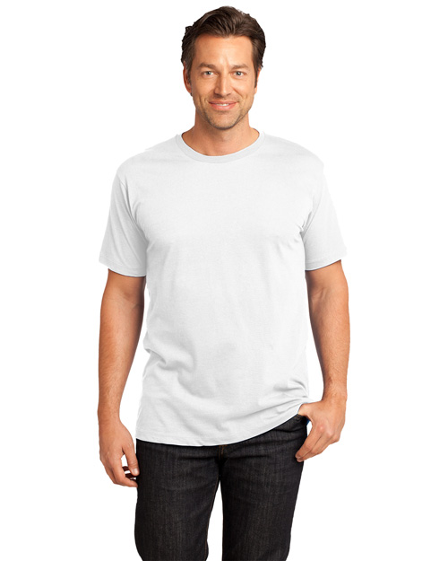 District Threads DT104 Men Short Sleeve Perfect Weight  Tee Bright White at bigntallapparel