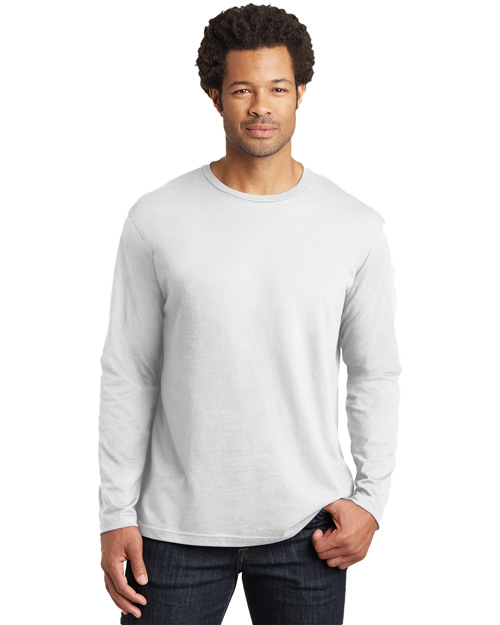 District Threads DT105 Men Long Sleeve Perfect Weight  Tee Bright White at bigntallapparel