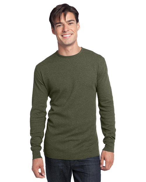 District Threads DT118 Men Long Sleeve Thermal Army at bigntallapparel