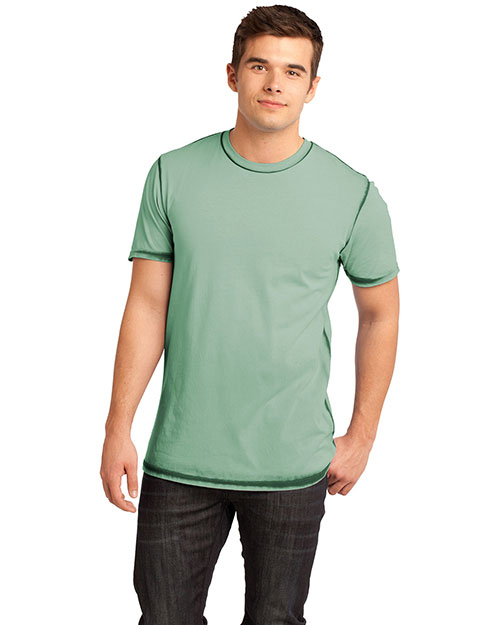 District Threads DT1200 Men Faded Crew Tee Forest Green at bigntallapparel