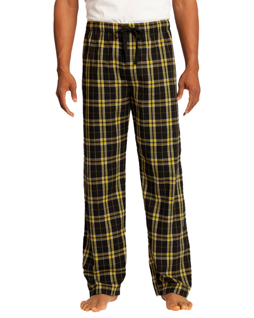 District Threads DT1800 Men Flannel Plaid Pant Gold at bigntallapparel