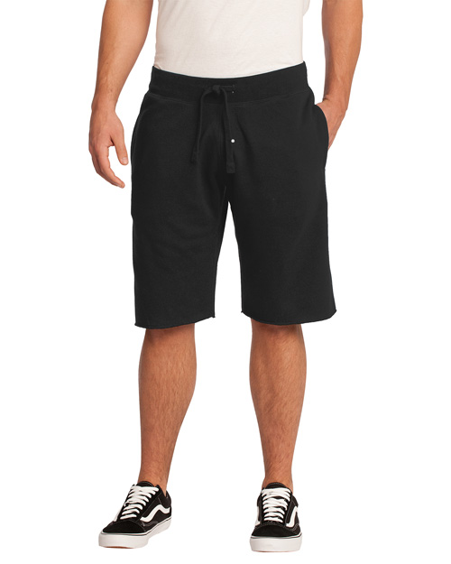 District Threads DT195 Men Core Fleece Short Black at bigntallapparel