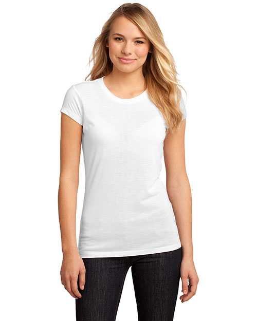 District Threads DT2610 Women Sublimate Tee White at bigntallapparel