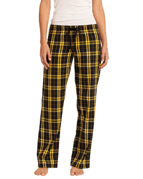 District Threads DT2800 Womenjuniors Flannel Plaid Pant Gold at bigntallapparel