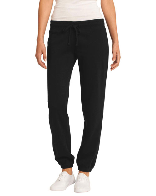 District Threads DT294 Womenjuniors Core Fleece Pant Black at bigntallapparel