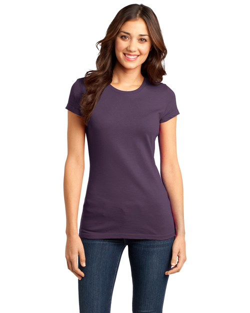 District Threads DT6001 Women Very Important Tee Eggplant at bigntallapparel