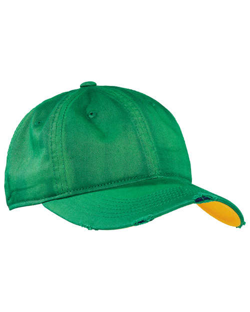 District Threads DT615  Sun Bleached And Distressed Cap Green at bigntallapparel