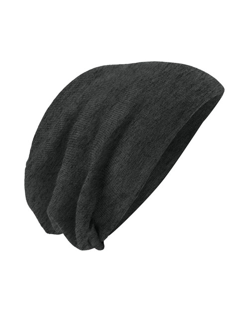 District Threads DT618  Slouch Beanie Charcoal Heather at bigntallapparel