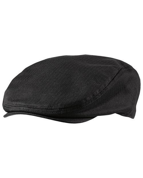 District Threads DT621  Cabby Hat Black at bigntallapparel