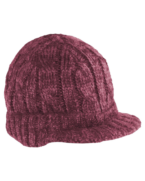 District Threads DT628   Cabled Brimmed Hat Rose/Maroon at bigntallapparel