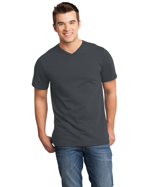 District Threads DT6500 Men Very Important V-Neck Tee Charcoal at bigntallapparel