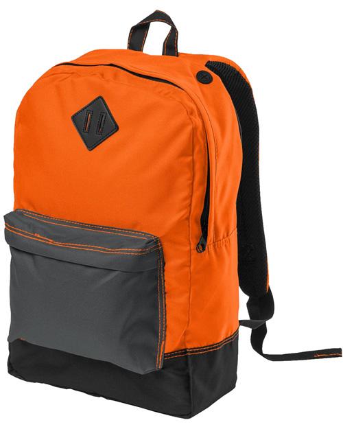 District Threads DT715  Retro Backpack Neon Orange at bigntallapparel