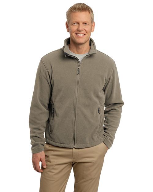 Port Authority F217 Men Value Fleece Jacket Brown Taupe at bigntallapparel