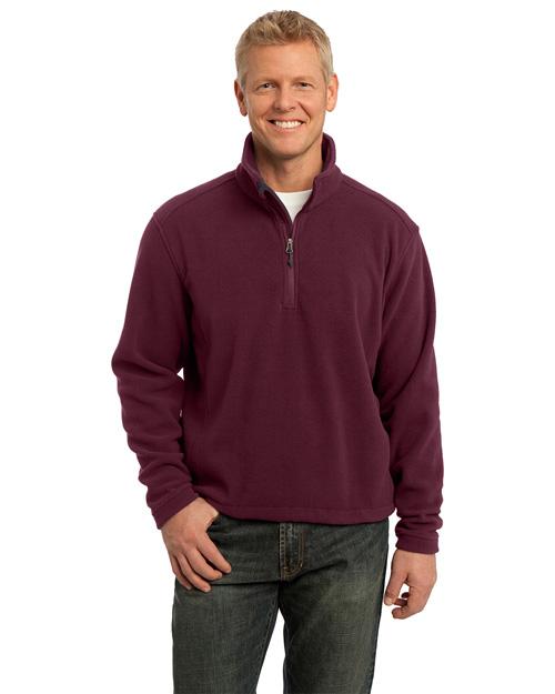 Port Authority F218 Men Value Fleece 1/4-Zip Pullover Maroon at bigntallapparel
