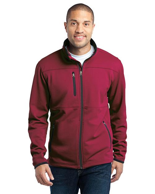 Port Authority TLF222 Men Tall Pique Fleece Jacket Garnet Red at bigntallapparel
