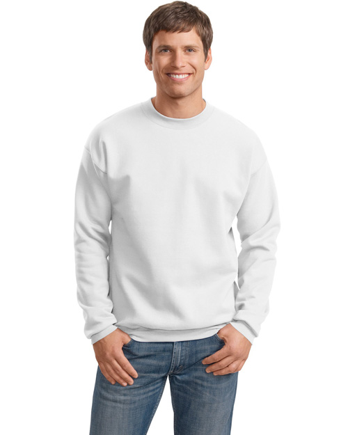 Hanes F260 Men Ultimate Cotton Crewneck Sweatshirt White at bigntallapparel
