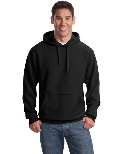Sport-Tek F281 Men Super Heavy Weight Pullover Hooded Sweatshirt Black at bigntallapparel