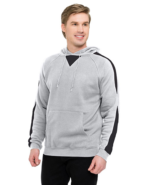 Tri-Mountain F685 Men 60% Cotton 40% Polyester Pullover Ultra Cool Sweat Shirt With Hood Athletic Gray/Black at bigntallapparel